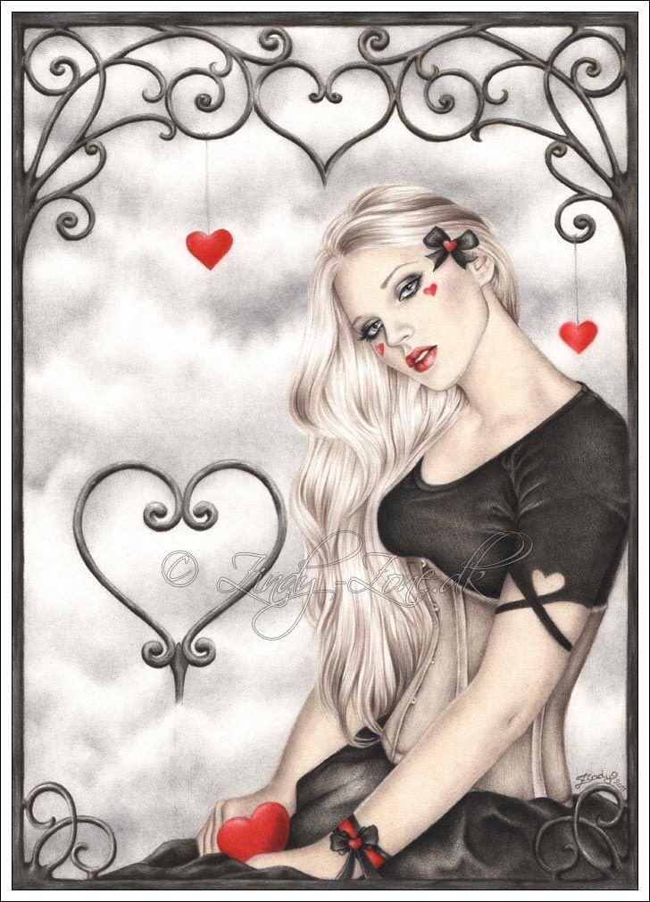A Dream Of Love By Zindy On Deviantart Art Valentine Hearts Art Valentine Drawing