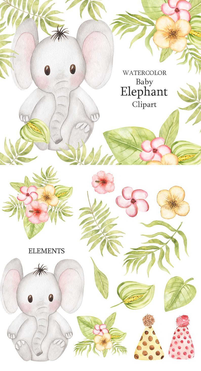 Pin On Cute Watercolor Animals