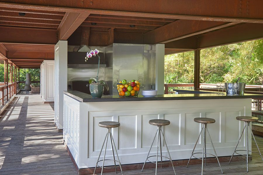 Outdoor Kitchen On The Second Floor Pavilion Vacation Rental In Coconut Grove Miami Miami Residence Bali Coconut Grove