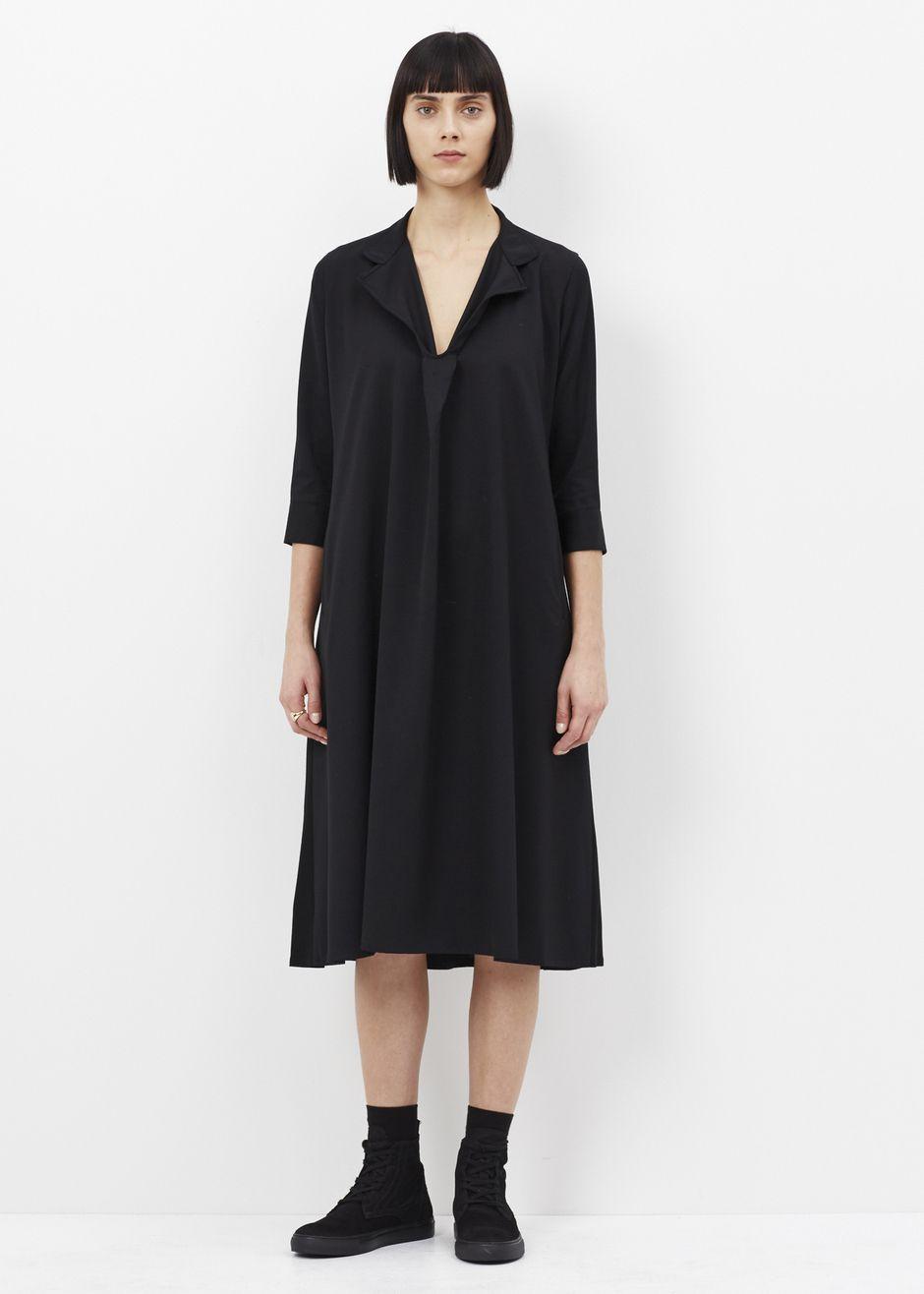 Yus by yohji yamamoto long dress black okappa pinterest