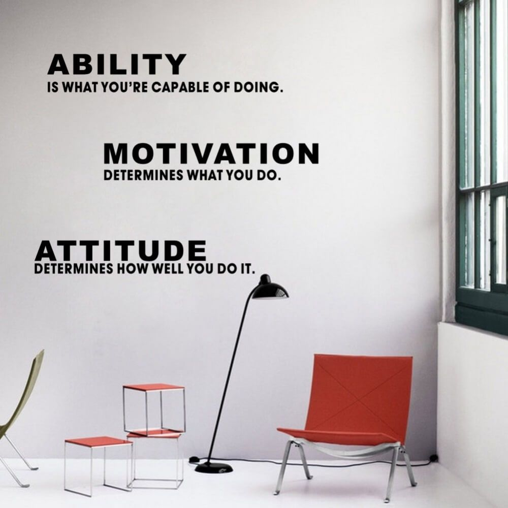 office wall stickers. Inspirational Quotes Ability Motivation Attitude DIY Wall Sticker Art Vinyl Decal Home Office Decor Stickers L