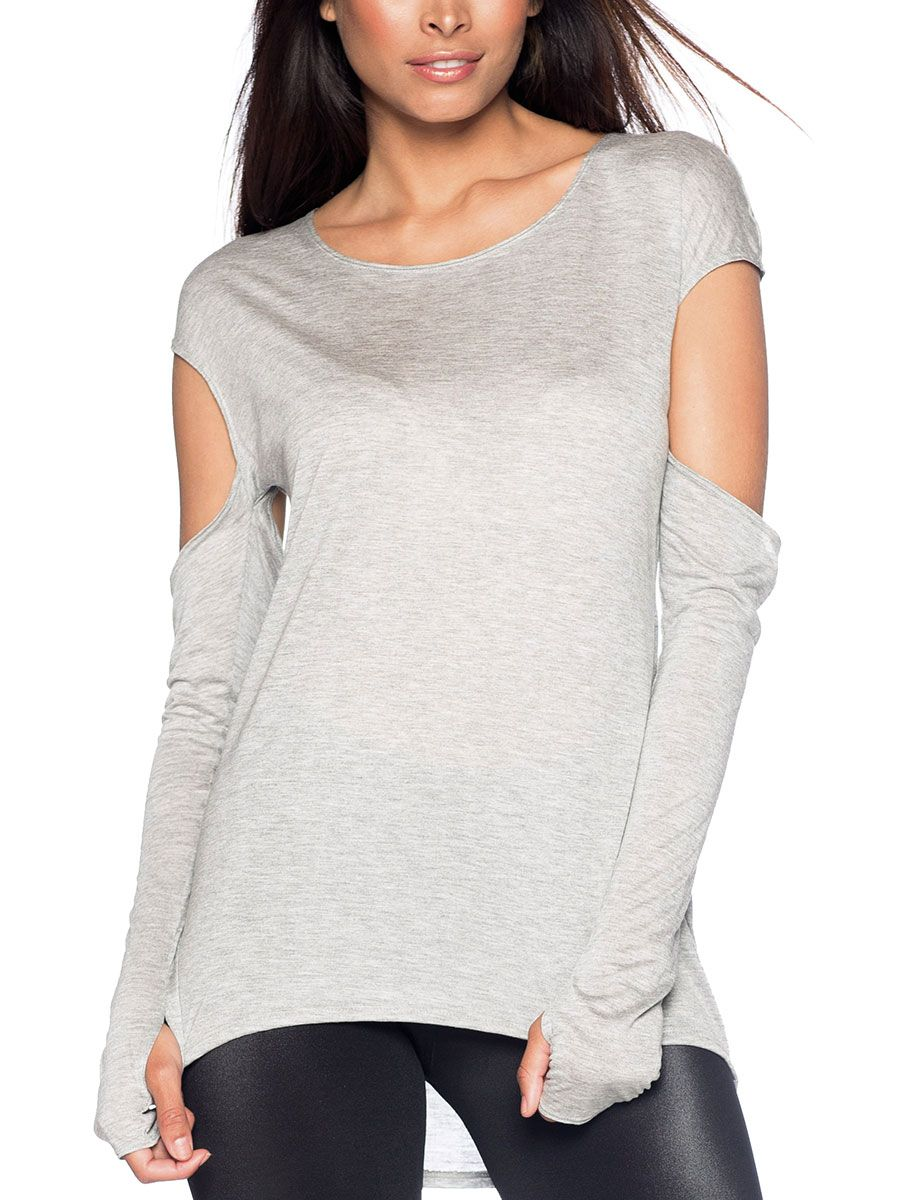Step Up Grey Top - LIMITED (AU $60AUD) by Black Milk Clothing