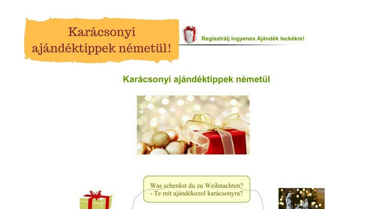 Karácsonyi ajándéktippek németül!