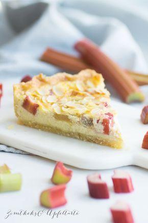 Schnelles und leckeres Rezept für cremige Rhabarber-Vanilleschmand-Tarte – Kuchen
