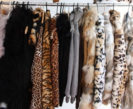fur jackets collection, yes please!