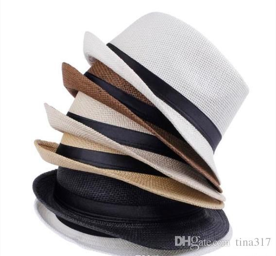 e69ae3dee34 Vogue Men Women Straw Hats Soft Fedora Panama Hats Outdoor Stingy Brim Caps  Colors Choose 0350 From Tina317