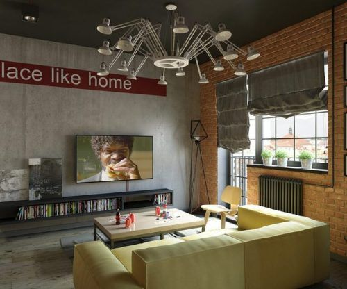 stylish modern homes with dark red accents also interior living rh pinterest