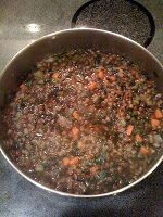 -- TheArmenianKitchen.com -- Everything about Armenian food: Lentil Soup with Spinach