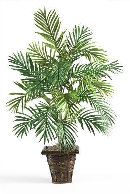 Natural Palm Tree Artificial Wicker Vase Decor Silk Plant Home