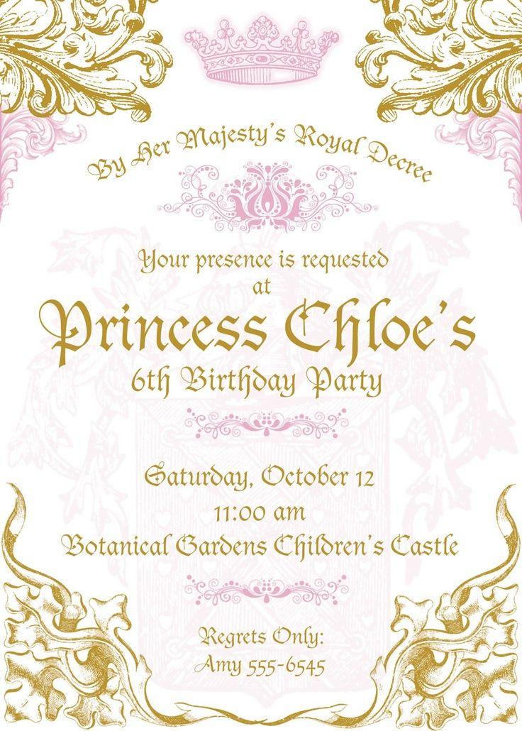 royal princess invitations Google Search Items similar to Disney ...