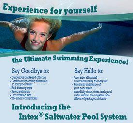 Saltwater Pool Salt Water Swimming Pool Saltwater Pool Pool Chlorine