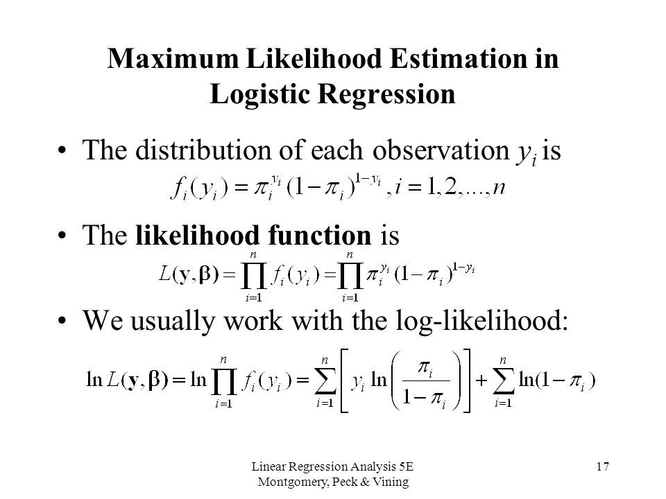 Maximum Likelihood estimation in logistic regressioin Data - devops resume