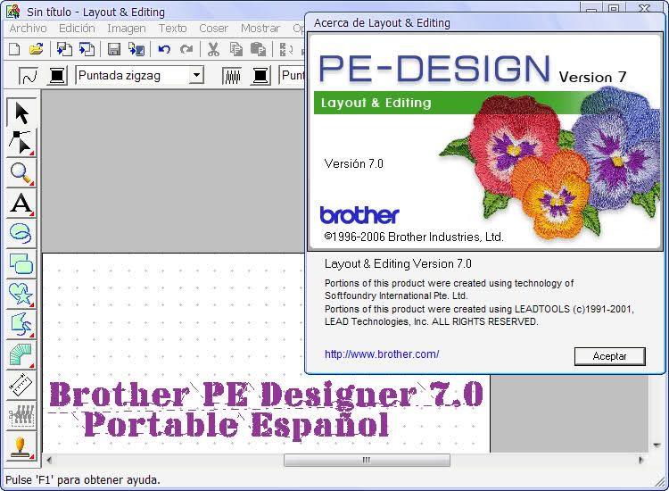 Descargar Brother Software Pe Design 7 Portable Y Espanol Crea Y Edita Disenos De Bordados Gratis Layout Design Design Layout