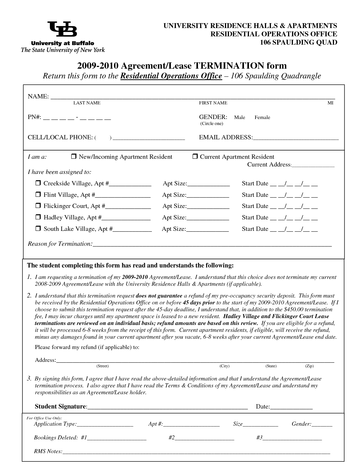 Lease Termination Forms By Jessicaderusso - Termination Of Lease
