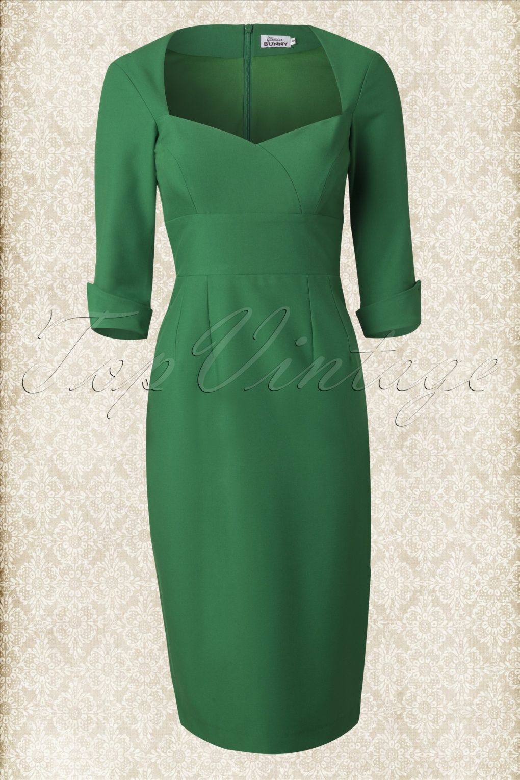 50s Adele Dress in Green - Glamour Bunny