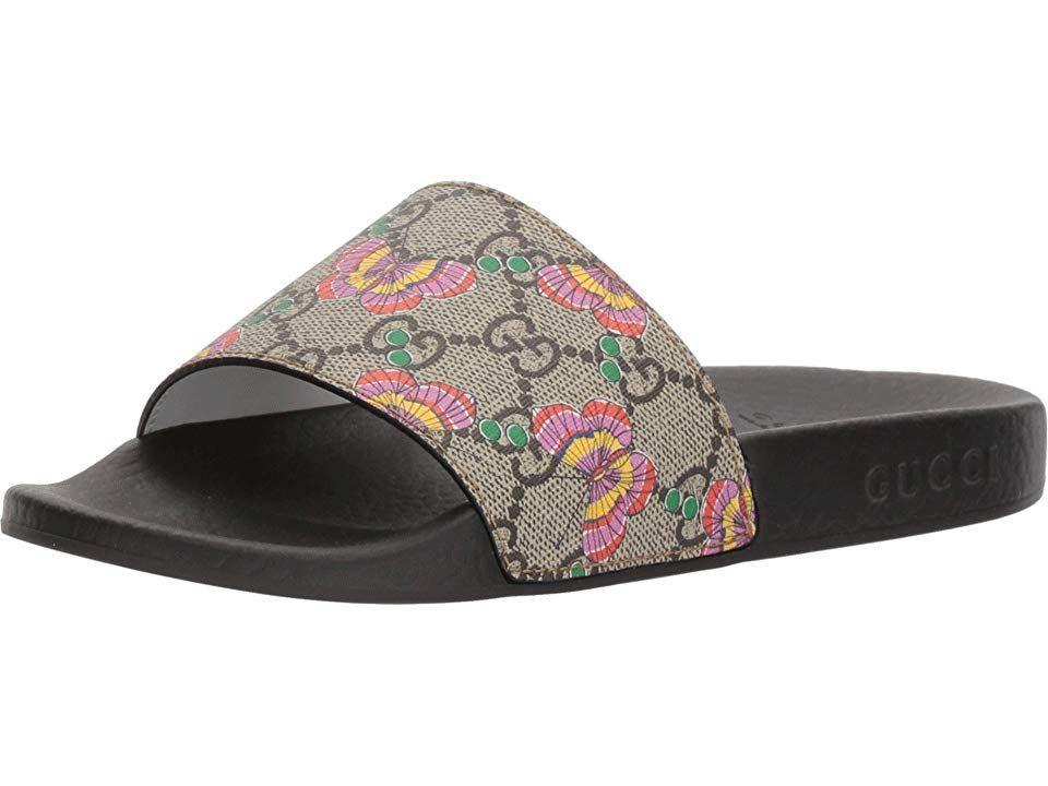 Gucci Kids Pursuit Slide (Little Kid) Girls Shoes Beige