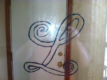 monogrammed door