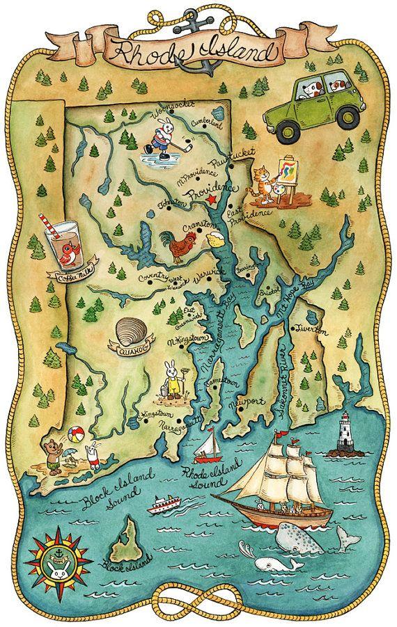Rhode Island State Map 11