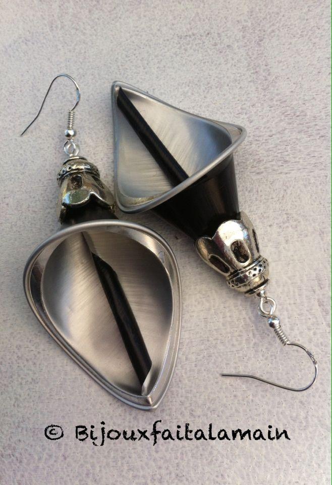 boucles d 39 oreilles nespresso capsules nespresso nespresso diy earrings y diy jewelry. Black Bedroom Furniture Sets. Home Design Ideas