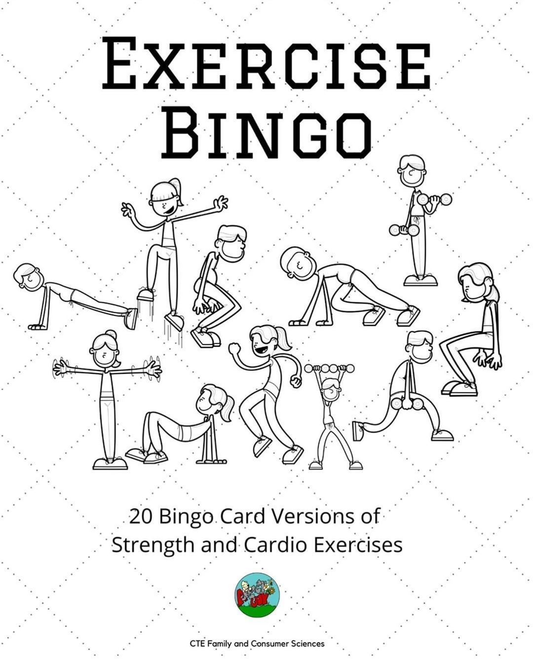 Check out these exercise bingo cards... great for group