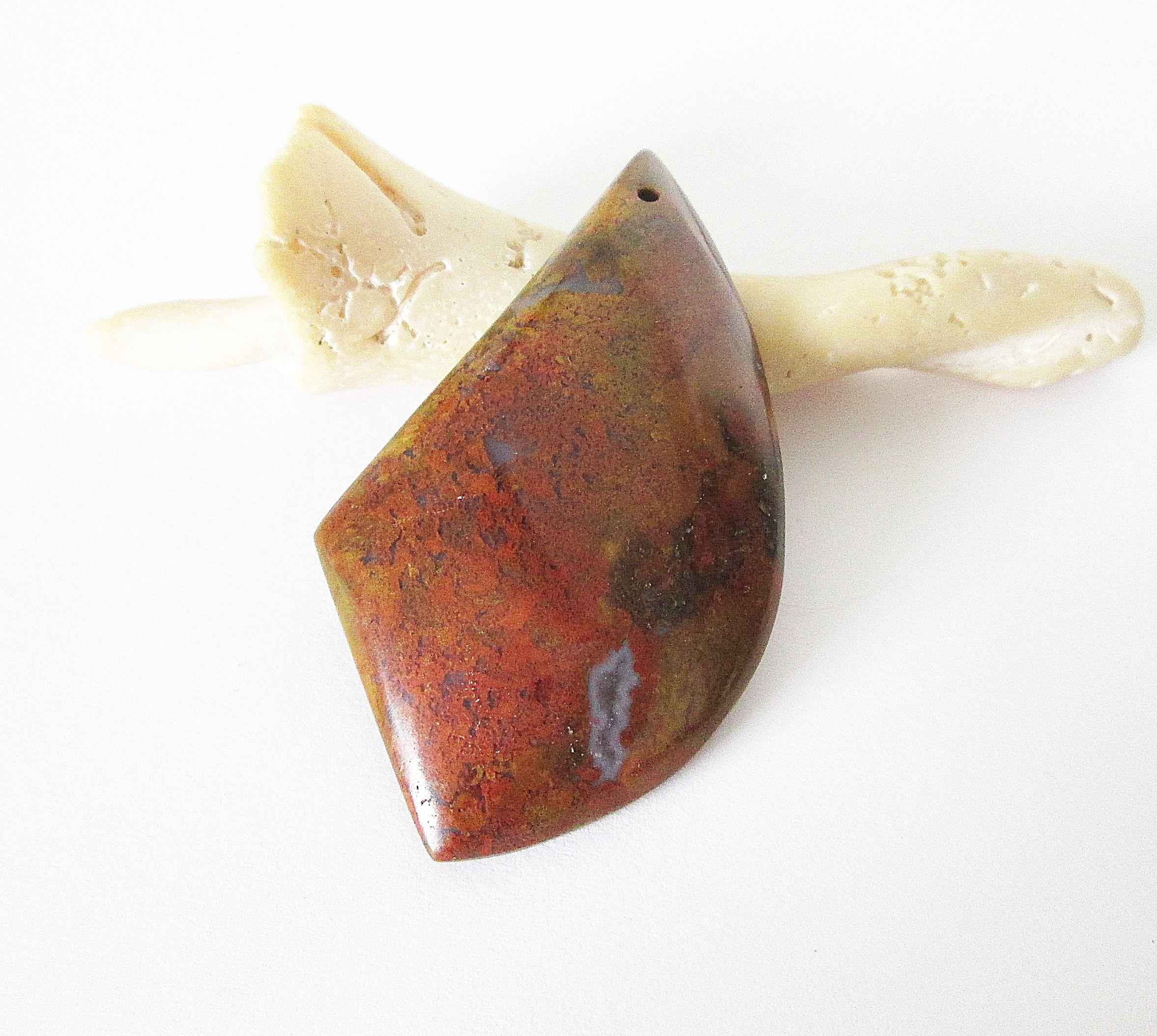 Flame Agate Designer Cut Cabochon