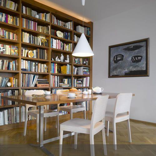 Bücherwand im Esszimmer mit Bildern   Bücherwand, Wohnen ...