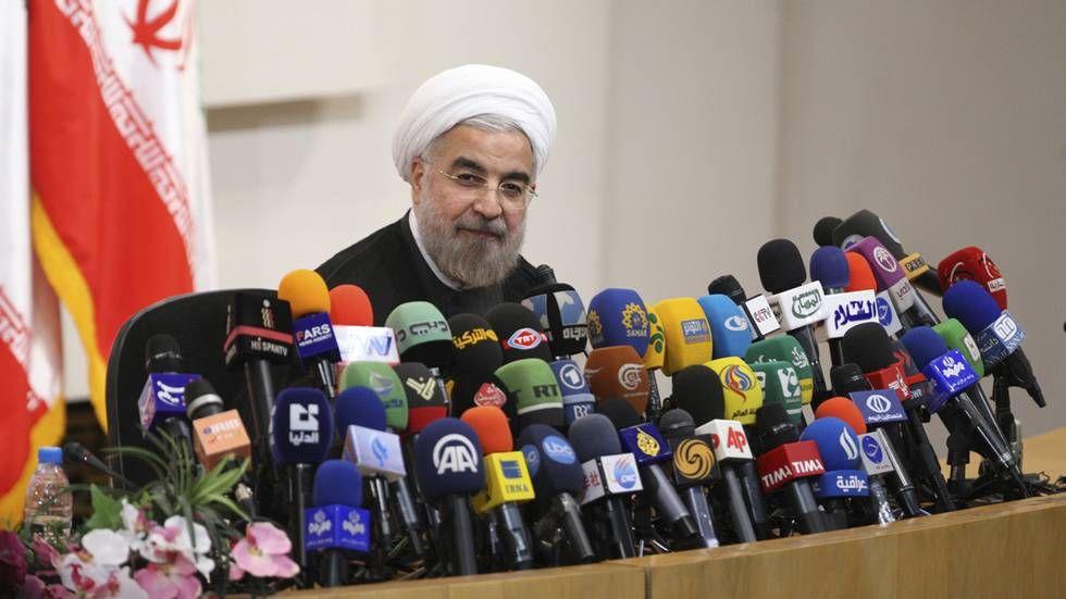 Utenriksminister Børge Brende møtte Irans president - Foto: Reuters.