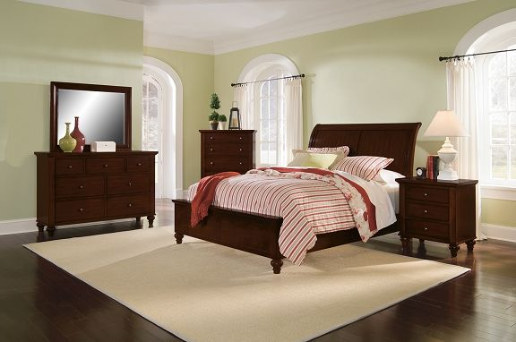savannah cherry bedroom collection value city