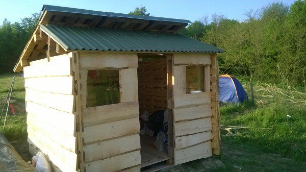 Small Shed from Used Pallets & Cheap Wood