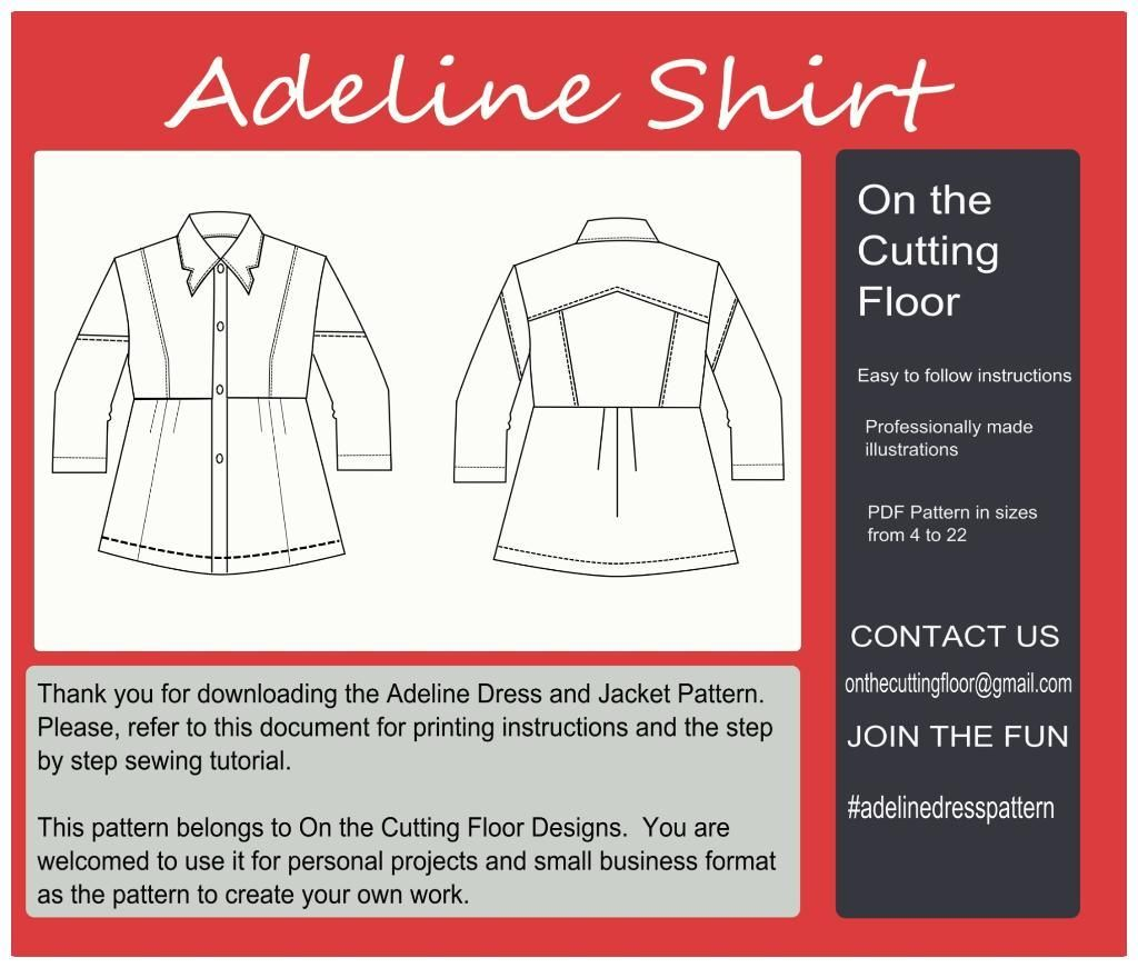 Adeline shirt pattern d uxui designer 9 and love adeline shirt pdf sewing pattern for women clothing create a beautiful denim shirt with this pdf printable sewing pattern jeuxipadfo Images