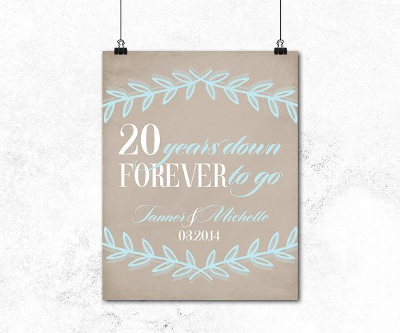 20th anniversary gift for husband or for wife 20th wedding