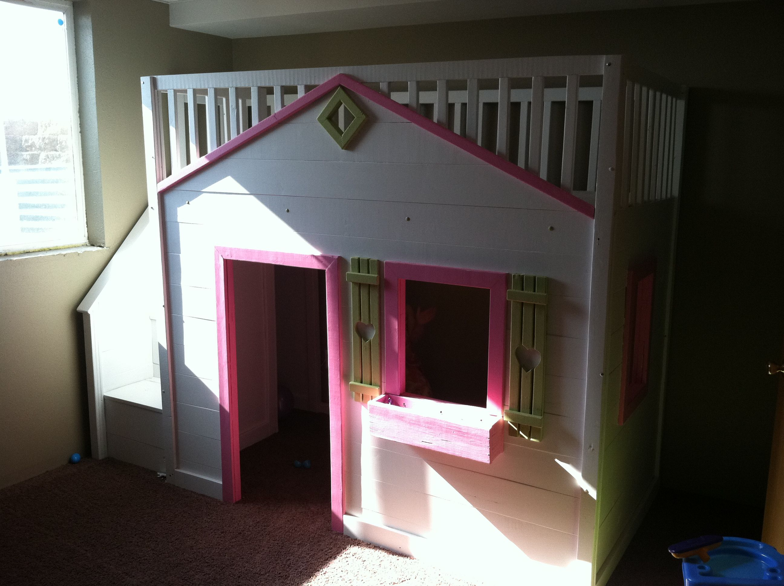 Girls loft bed with stairs  Cottage Loft Bed WITH Stairs  Do It Yourself Home Projects from Ana