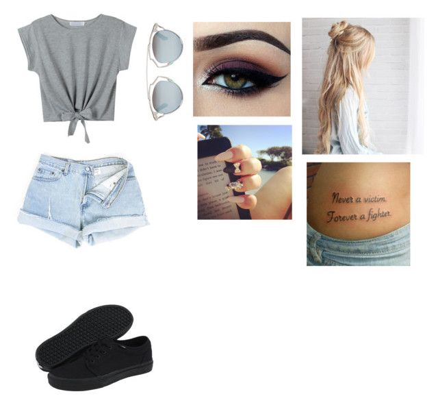 """""""Untitled #112"""" by cookiezz on Polyvore featuring WithChic, Christian Dior, Ardell and Vans"""