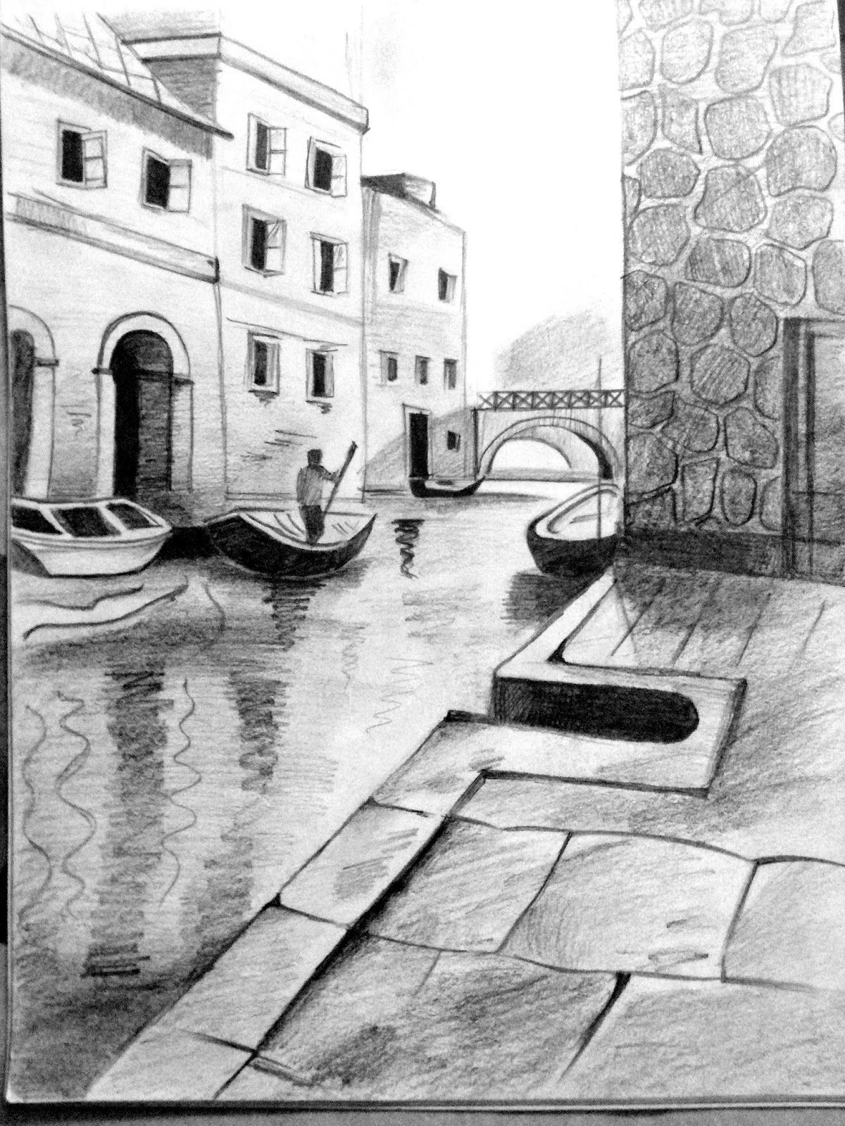 Pencil Art Gallery Pencil Drawings With Images Landscape Pencil Drawings Pencil Drawings Landscape Paintings Acrylic