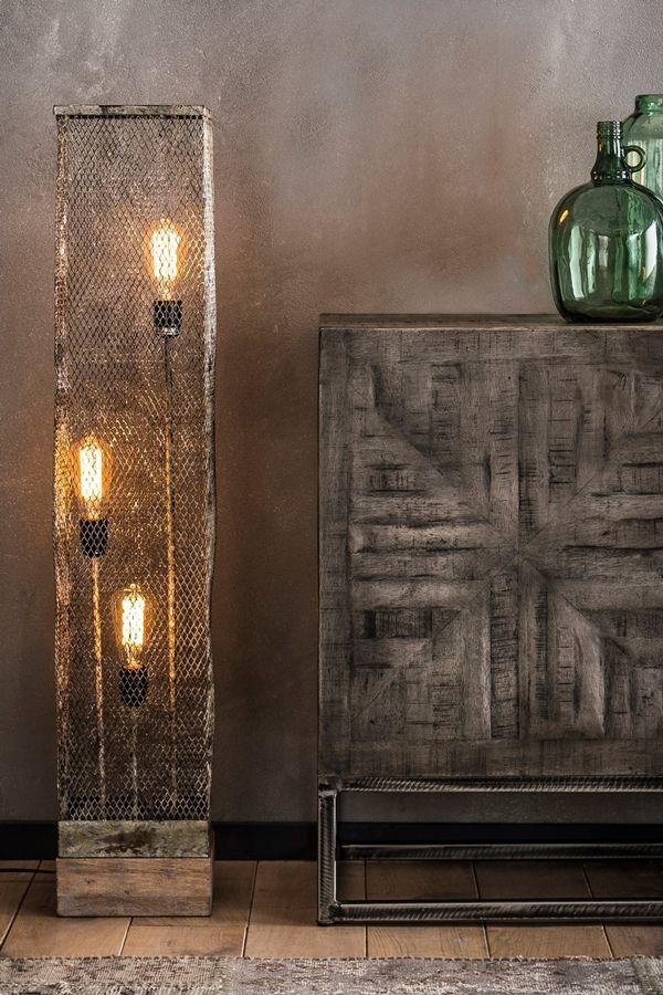 Stehlampe Woodo (con imágenes) | Pantalla de metal, Lámparas