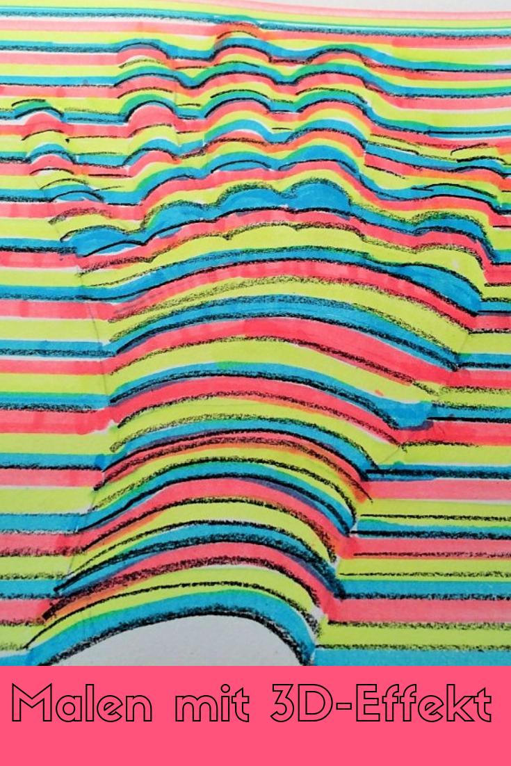 Anleitung & Tipps für kinderleichtes Malen & Zeichnen von Bildern mit 3D-Effekt