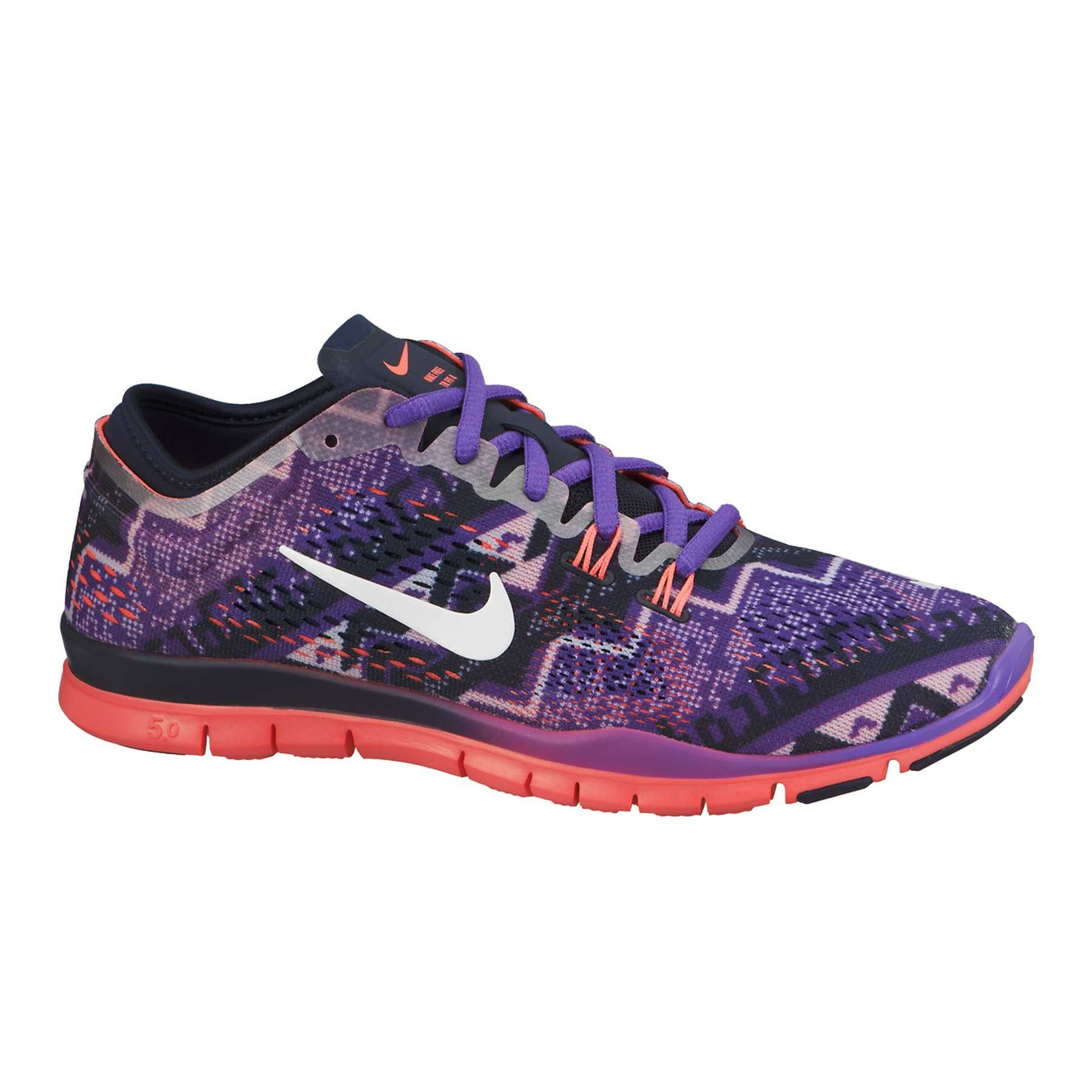 993f30a9ba00 Nike Free TR Fit 4 Nordic Print Women s Training Shoe in blue or purple ...