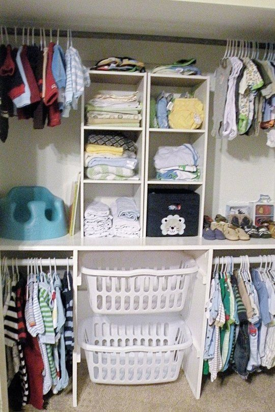 Kid Closet Like The Laundry Basket Idea For Kids I Know A Few That Need This