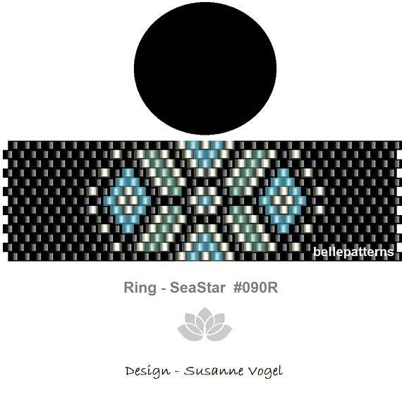peyote pattern,PDF-Download, #090R, peyote ring beading pattern ...