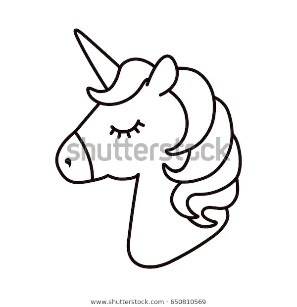 Vector De Stock Libre De Regalias Sobre Unicorn Vector Horse Head Sleep Colored650810569 Unicornios Para Dibujar Unicornios Para Pintar Unicornio Colorear