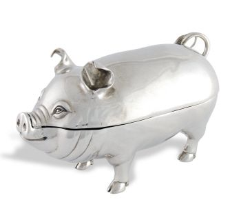 Pewter Cochon Butter Dish - LOL cute