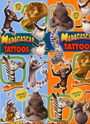 Madagascar Vending Machine 2 Tattoos . $48.00. Madagascar Vending TattoosVending Machine Refills 300 Ct