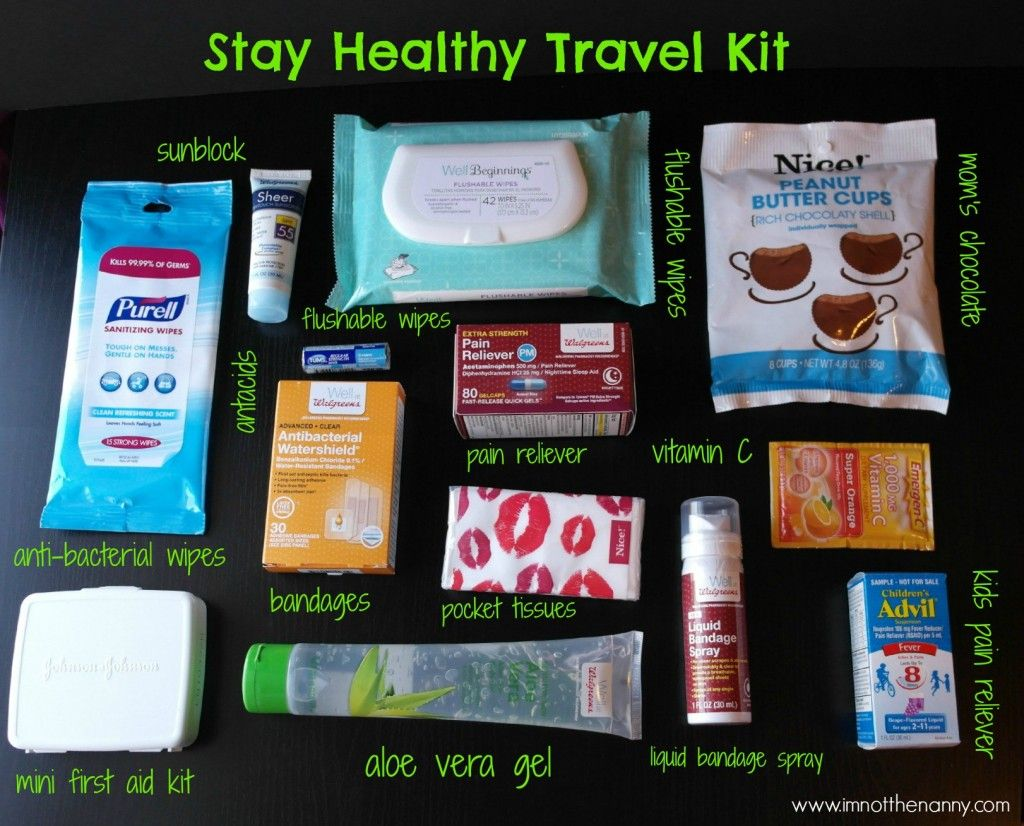 Stay Healthy Travel Kit Contents Wellatwalgreens Shop I