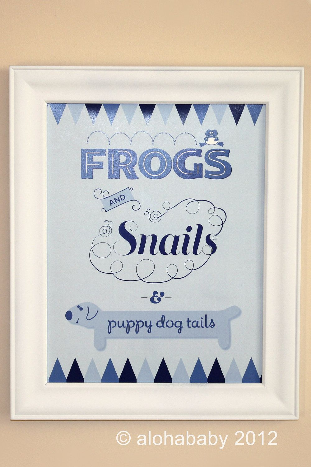 Nursery Rhyme Baby Shower Centerpiece Frogs And Snails And Puppy