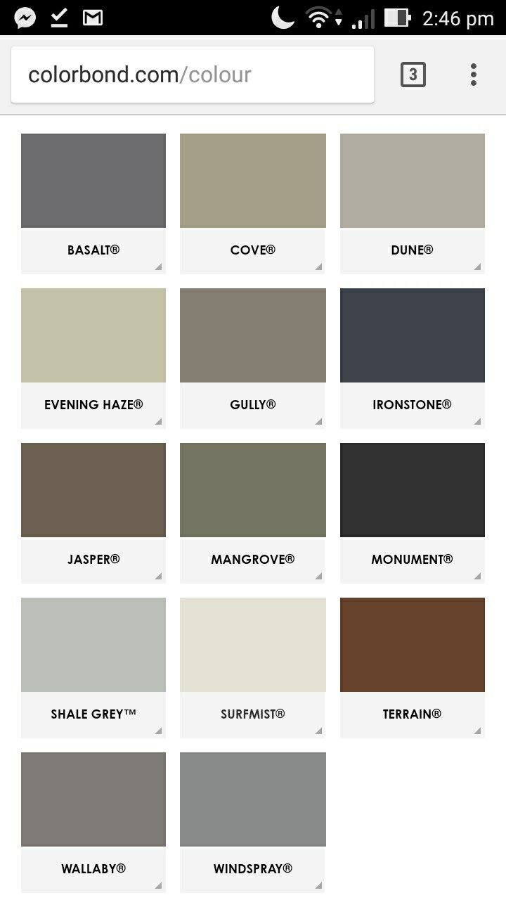 Colorbond colours   Property ideas   Home decor, Decor