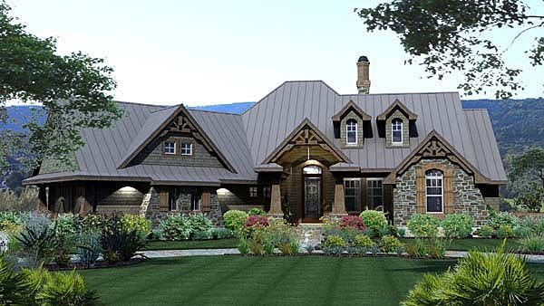 Tuscan Style House Plan with 3 Bed 3 Bath 2 Car Garage