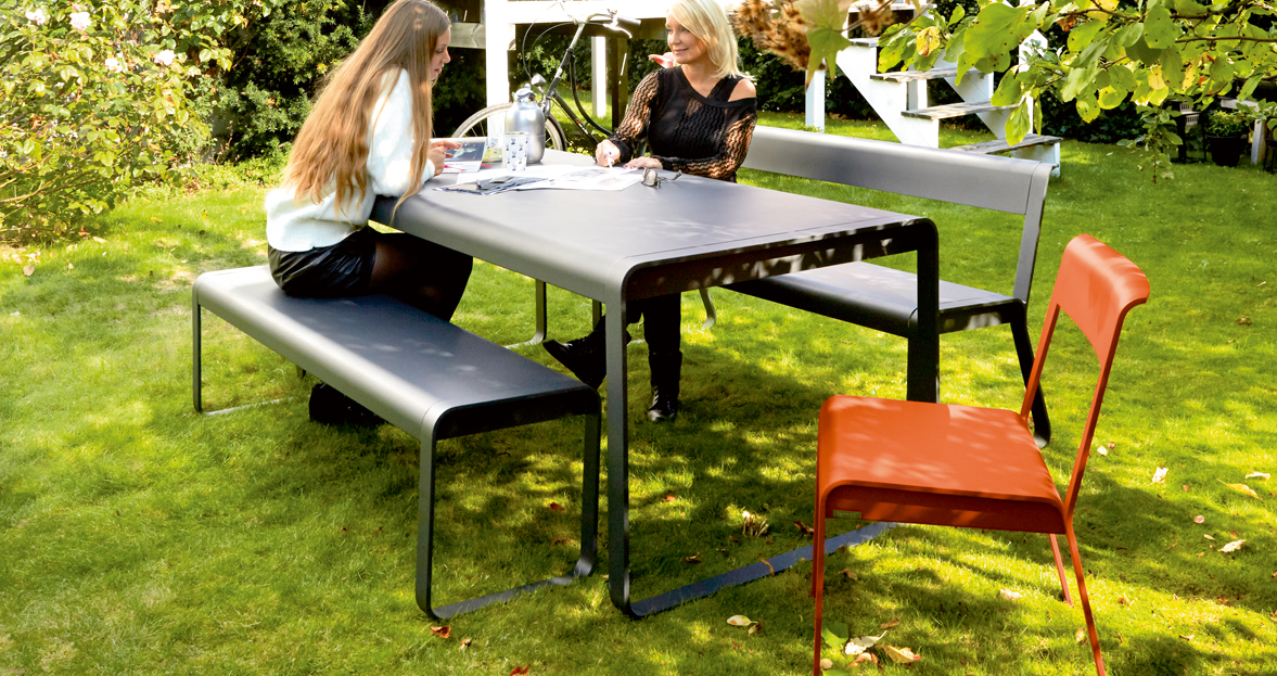 Bellevie Table Metal Garden Table For 8 Metal Garden Table