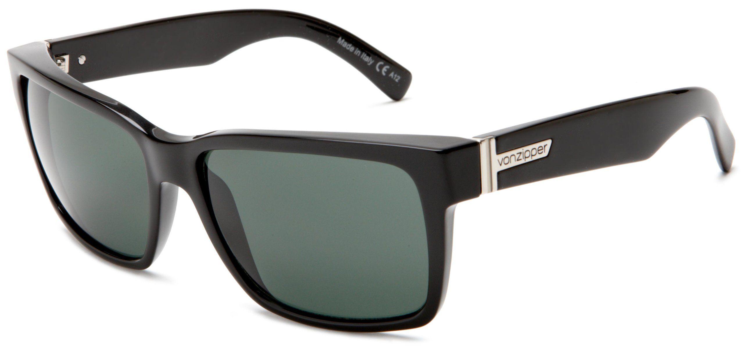 195c6957a1 VonZipper Elmore Men s Casual Sunglasses - Black Gloss Vintage Grey ...