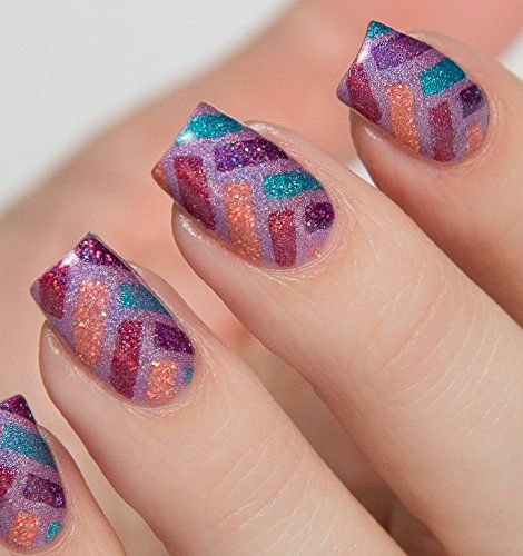 Herringbone Nail Stencil Vinyl Decal Art Set of 24 >>> To view further, visit now : home diy wall