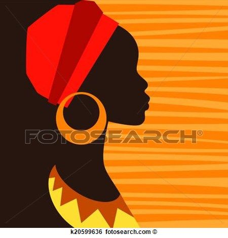 african woman silhouette art - Google Search